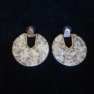 Shiny flecked acrylic earrings